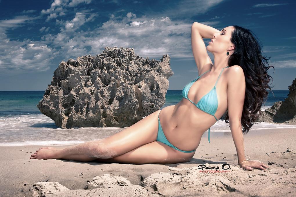 Beach Portrait by Percy Ortiz