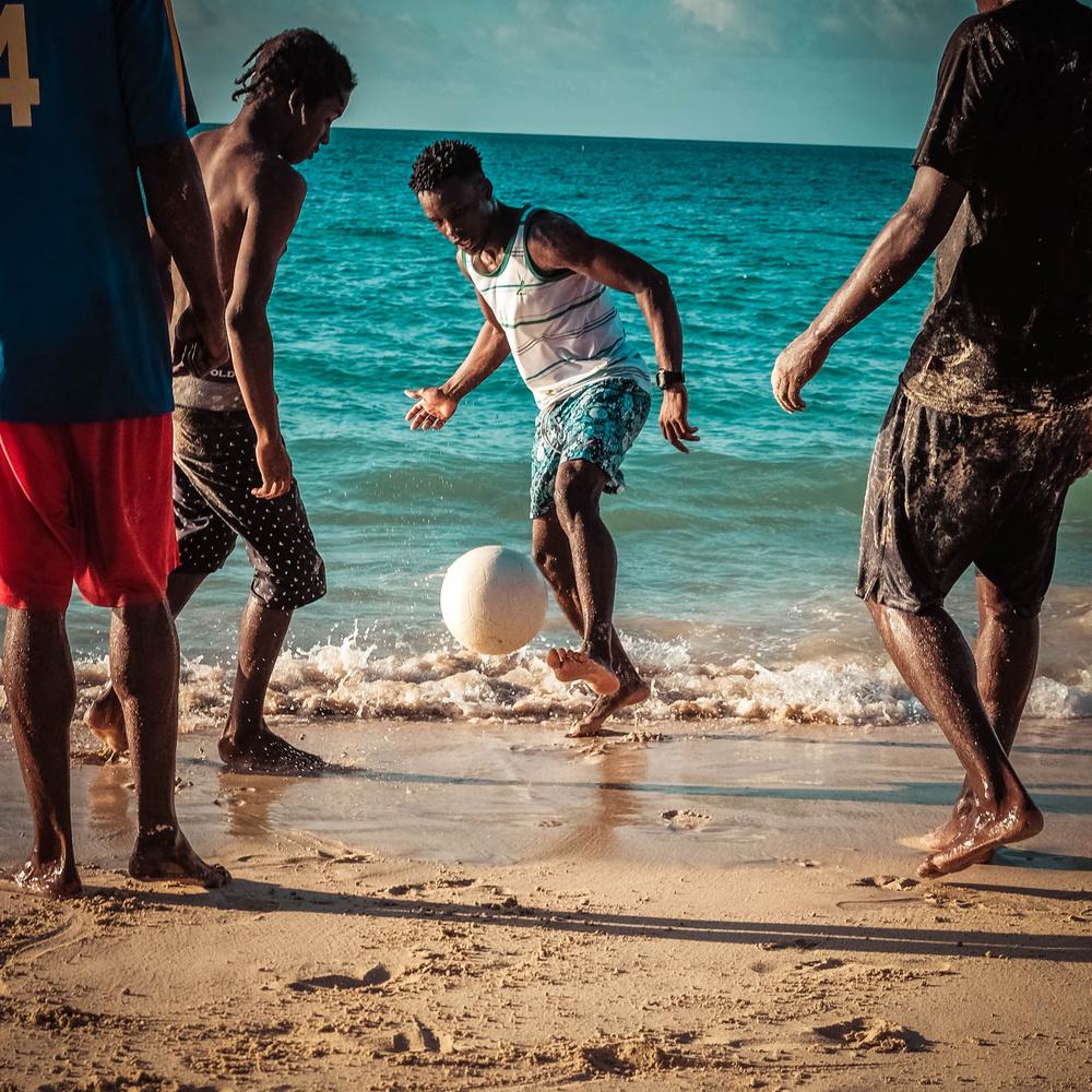 Grand Anse Beach football by Patrick Whalen