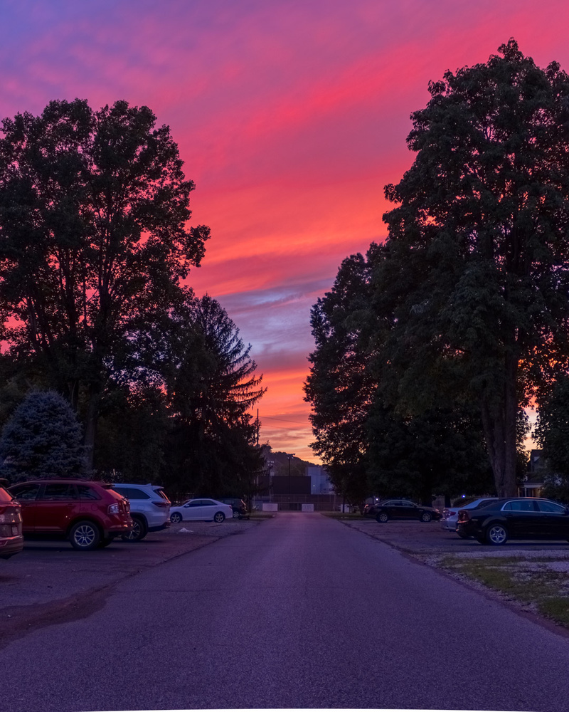 HDR Pink Sky Sunset by Jonah Dyer
