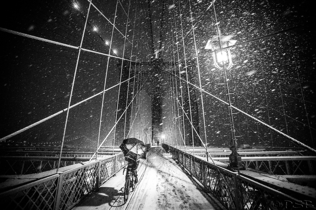 Snowy Bike Ride by Peter Barta