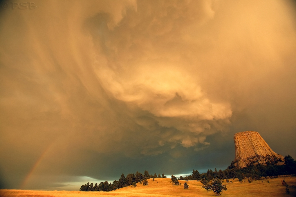 Devil's Tower Storm by Peter Barta