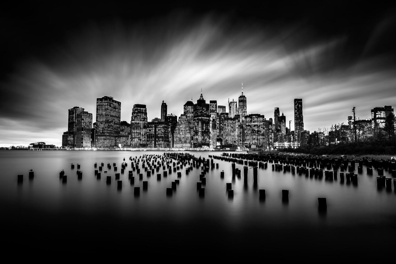 Brooklyn Bridge Park - 5min exposure by Peter Barta