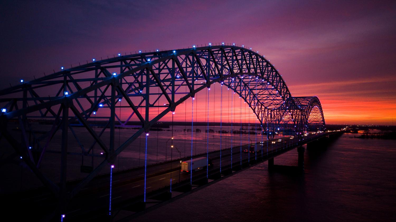 Hernando de soto Bridge, Memphis TN by Peter Barta