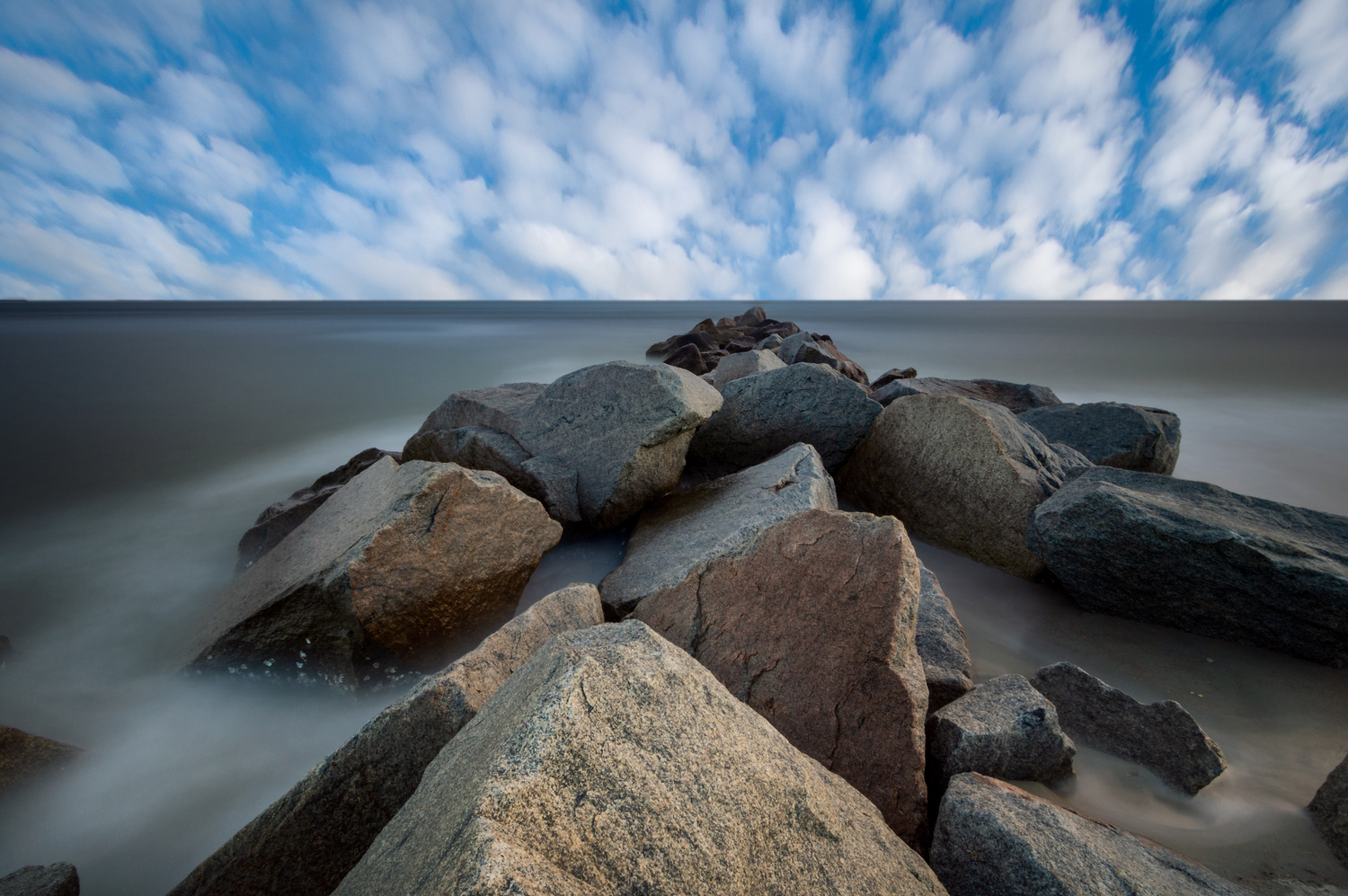 Rocks and Water Long Exposure by Kyle Foreman