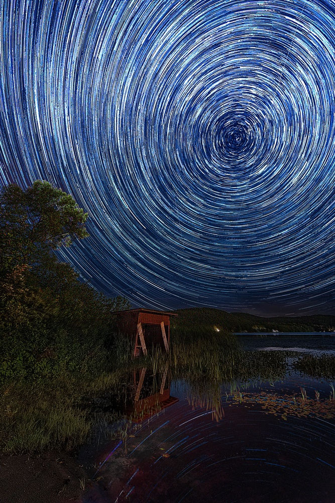 Brant Lake Star Trails by Kyle Foreman