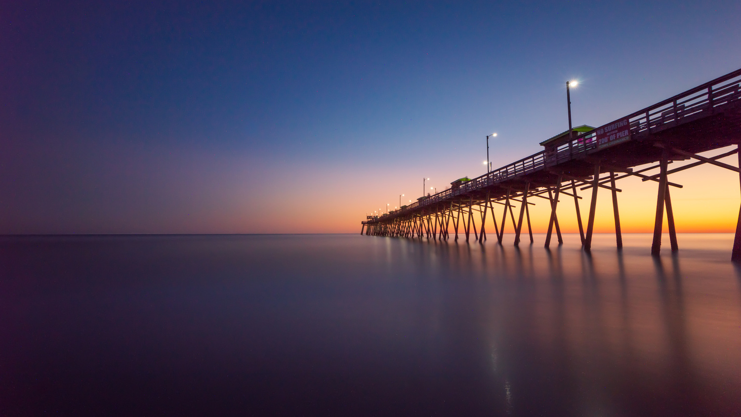 Bogue Inlet Pier Long Exposure by Kyle Foreman