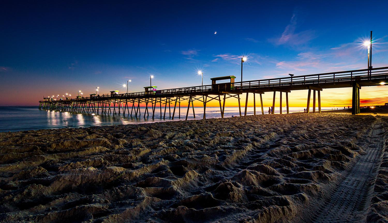BI Pier Blue Hour by Kyle Foreman