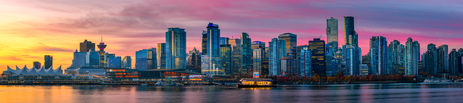 Vancouver Sunrise (panoramic) by Jordan McChesney