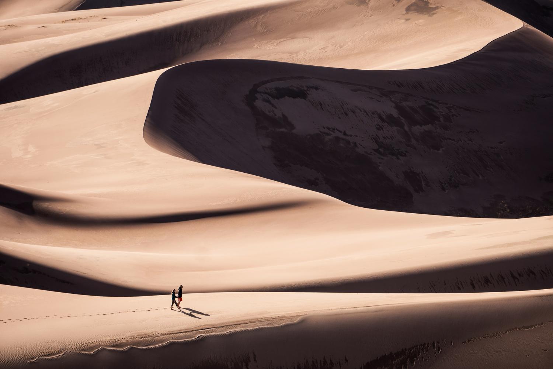 Through the Dunes by Lionello DelPiccolo