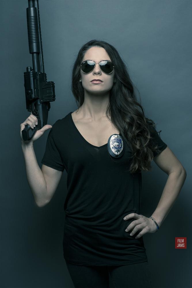 Natalie with Shotgun doing her Best Sarah Connor (Terminator) by Film Jams