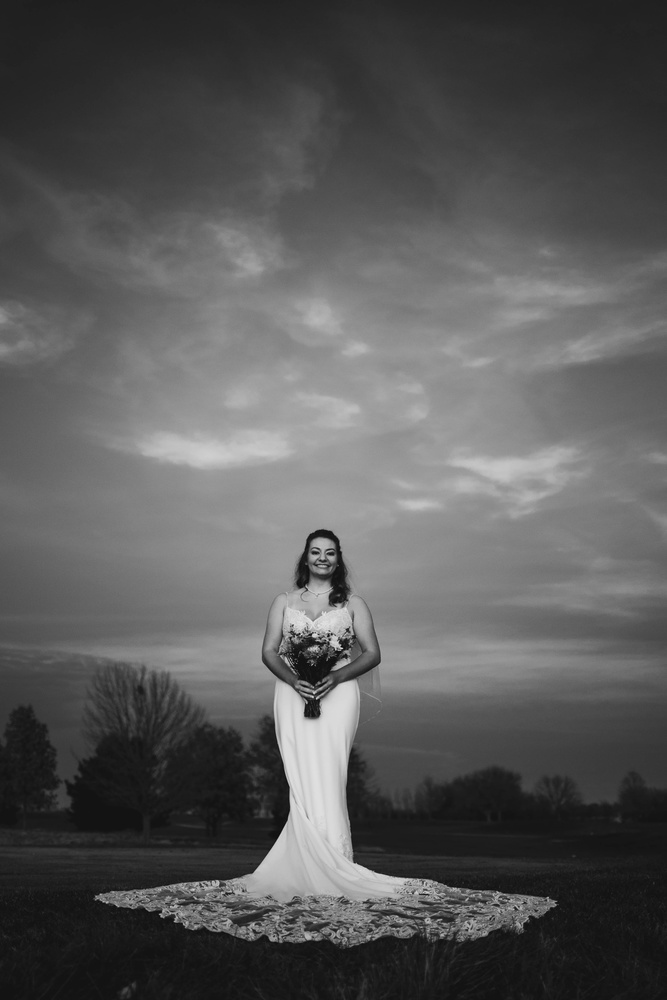 Black and White Bride by Chris Manning