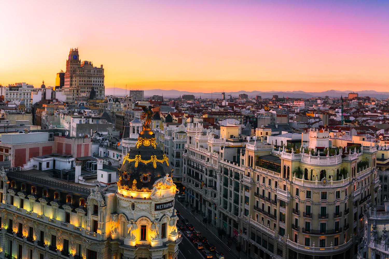 Sunset Panorama   Madrid, Spain by Nico Trinkhaus