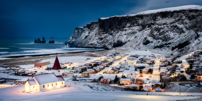 Iceland Vik Church by Nico Trinkhaus
