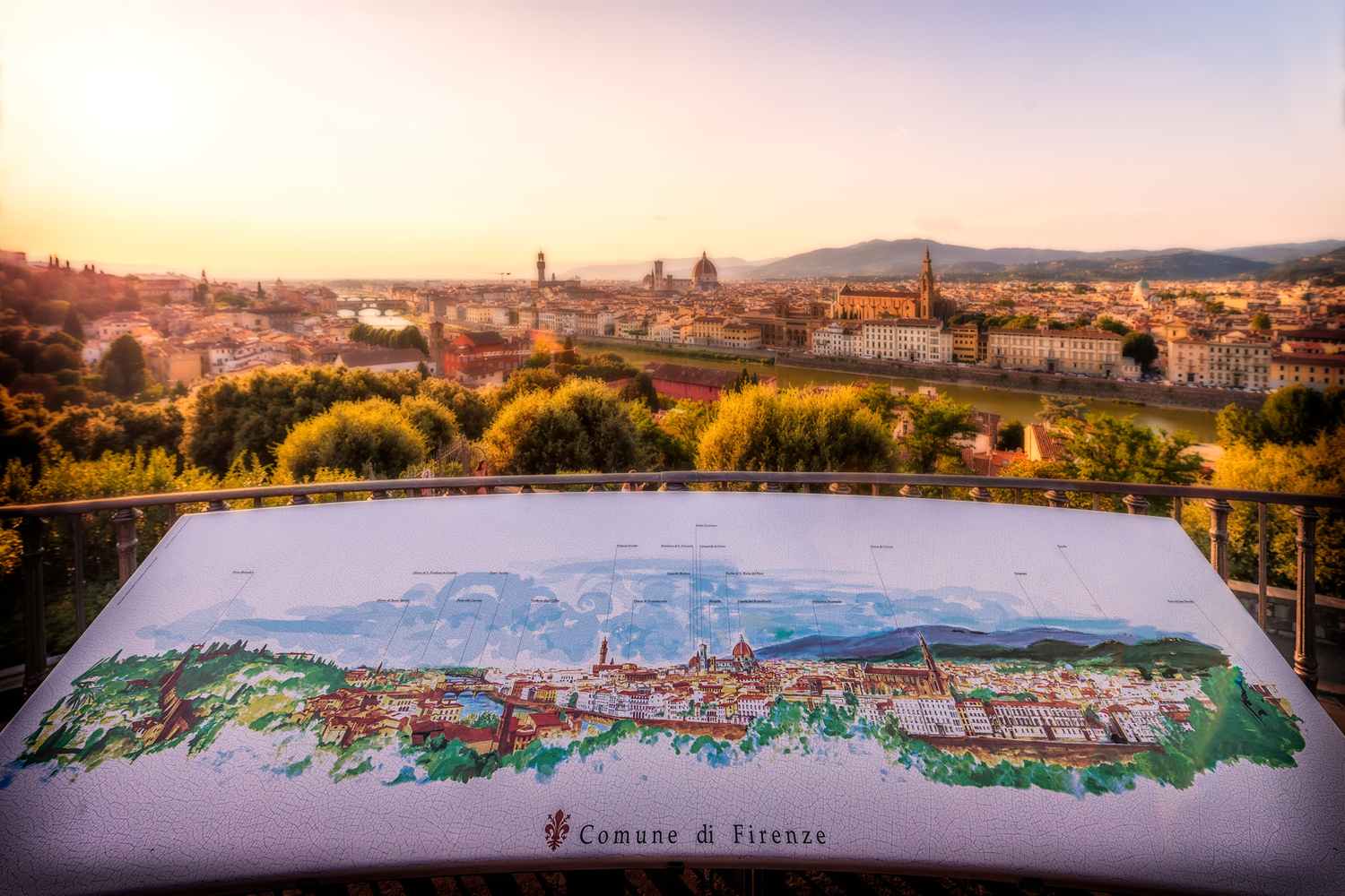 Florence panorama in the evening | Florence, Italy by Nico Trinkhaus