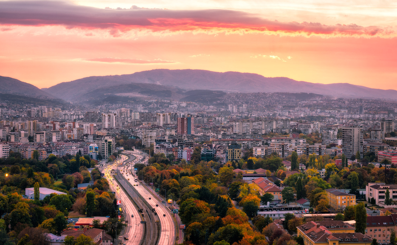Mountain Panorama | Sofia, Bulgaria by Nico Trinkhaus
