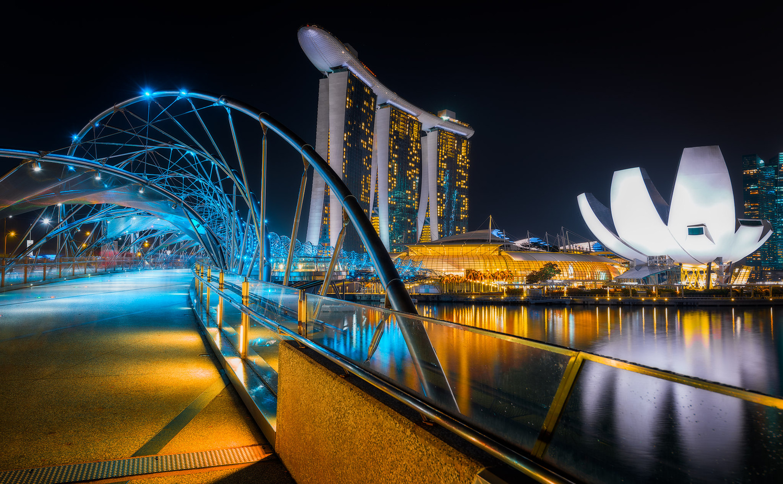 The Helix Bridge | Singapore by Nico Trinkhaus