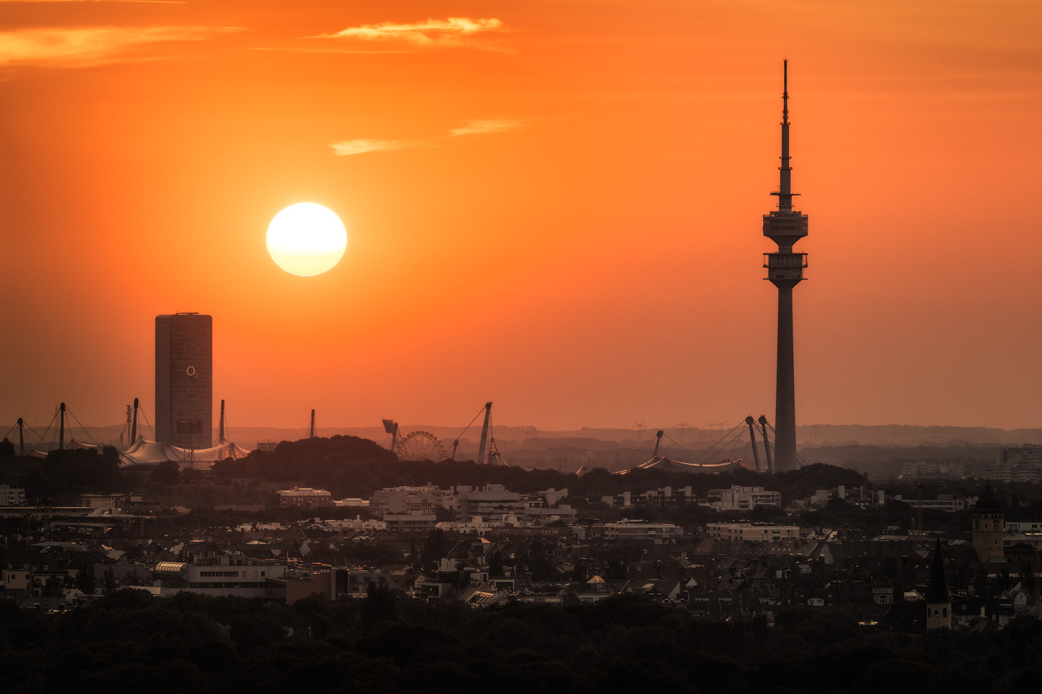Skyline and The Olympic Tower | Munich, Germany by Nico Trinkhaus