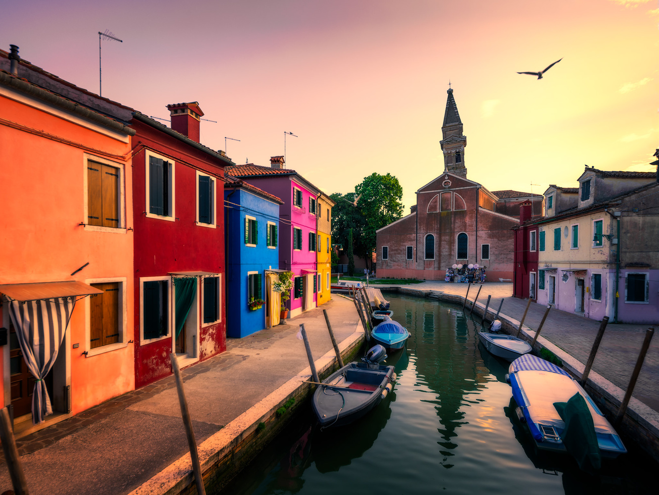Burano and San Martino with the Leaning Tower | Venice, Italy by Nico Trinkhaus