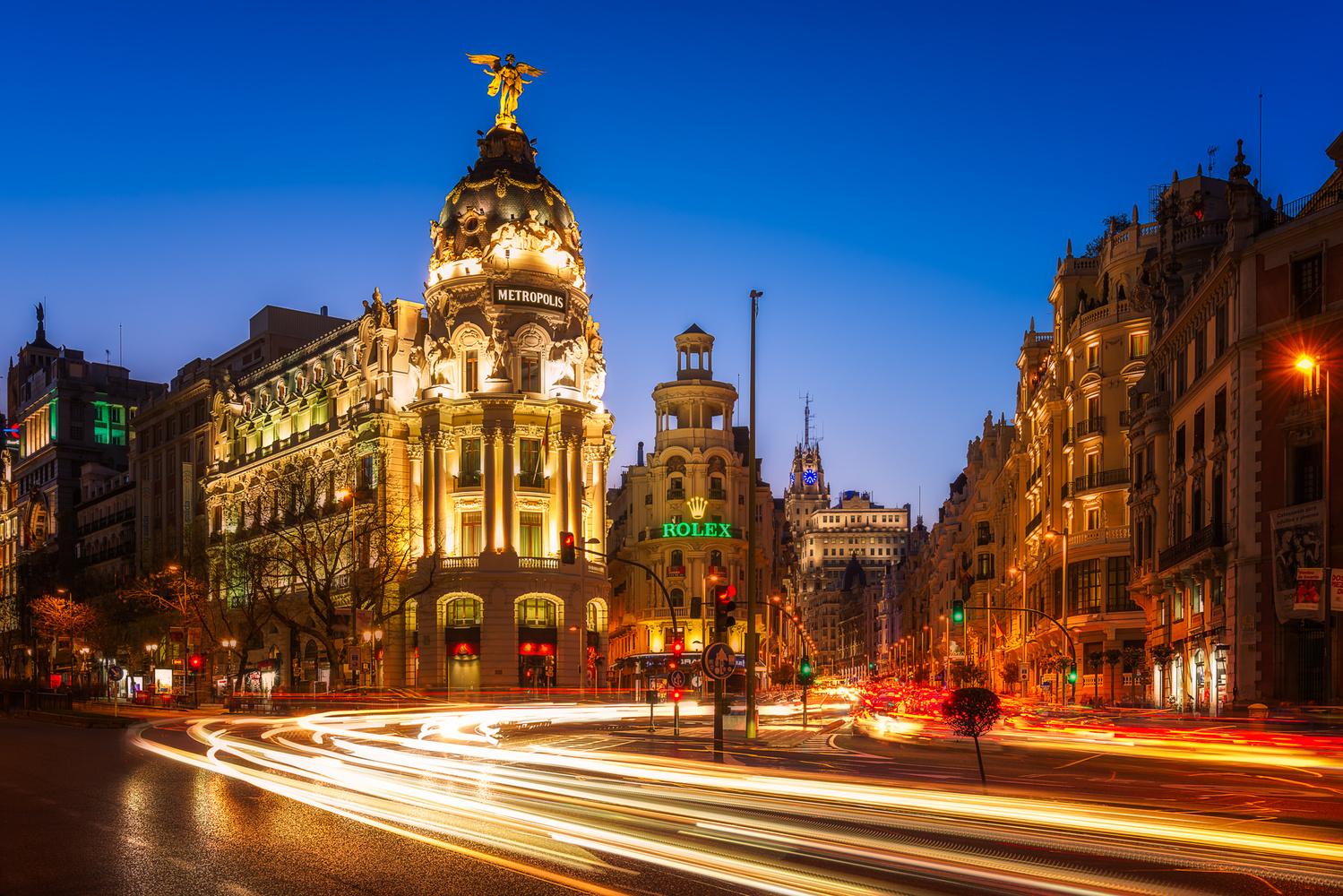 Gran Via and The Metropolis Building | Madrid, Spain by Nico Trinkhaus