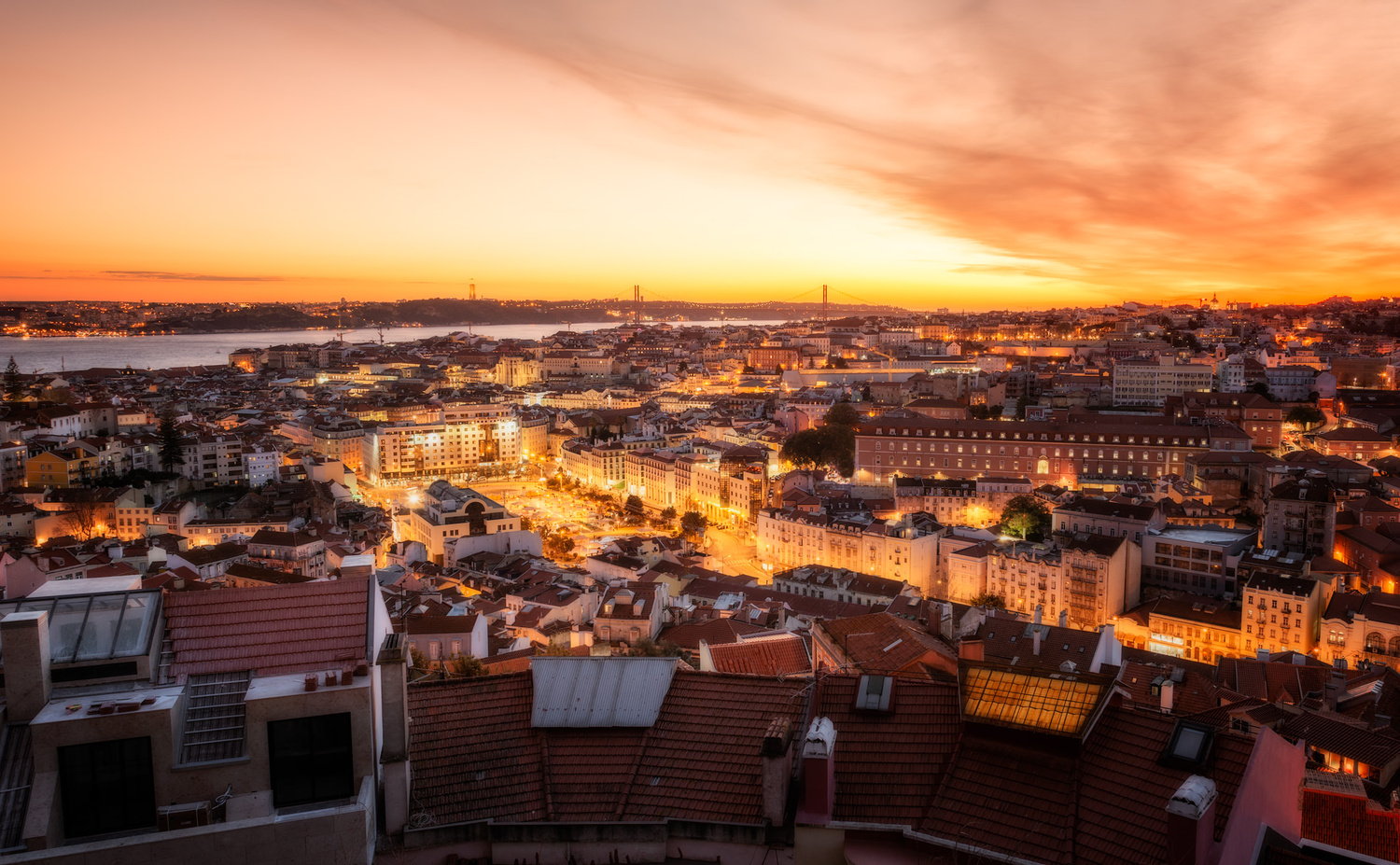 Sunset View | Lisbon, Portugal by Nico Trinkhaus