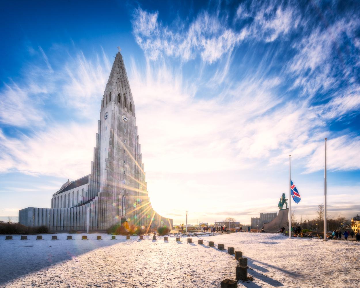 Reykjavik Church Sunset  | Iceland by Nico Trinkhaus
