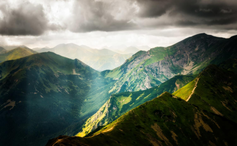 View on Tatra Mountains from Kasprowy Wierch; Poland by Nico Trinkhaus