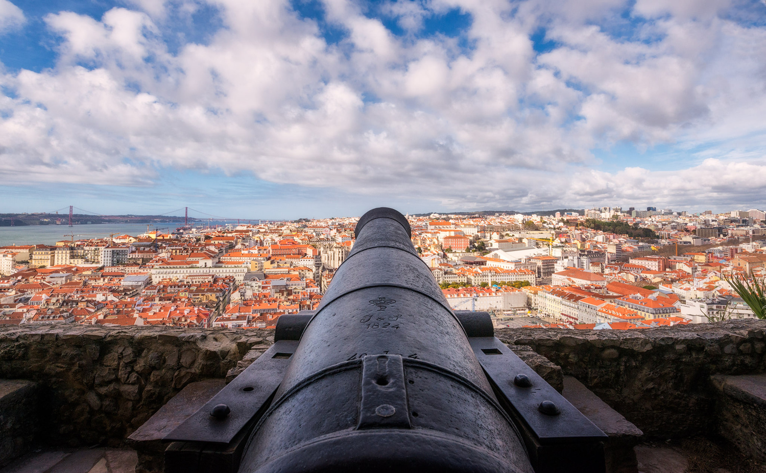 Panorama from St George Castle | Lisbon, Portugal by Nico Trinkhaus