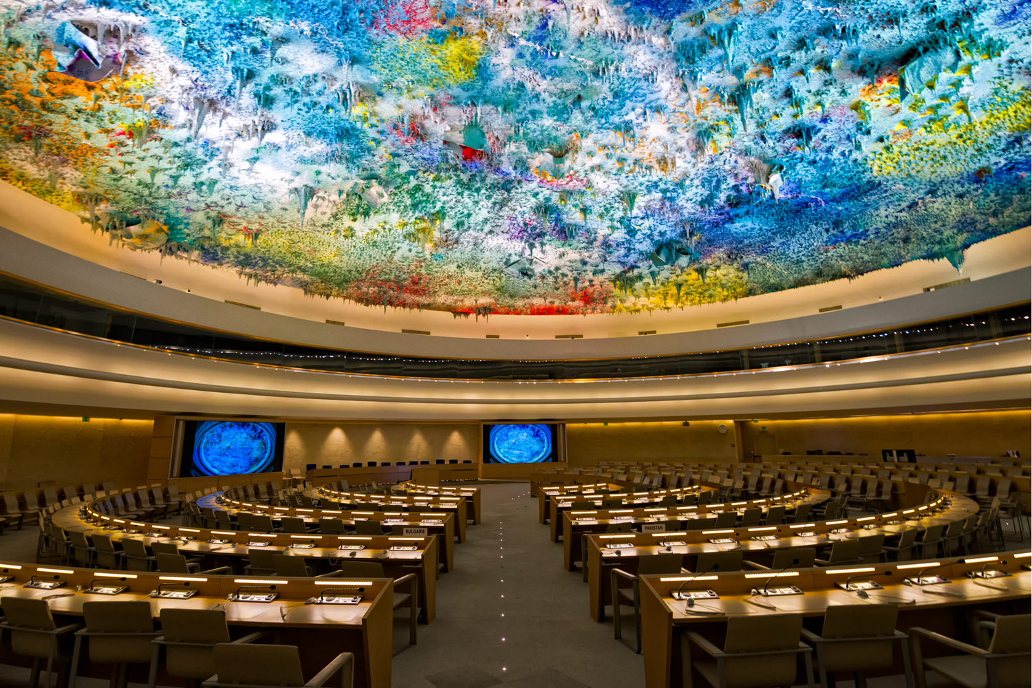 United Nations Human Rights Room, Geneva by Nico Trinkhaus