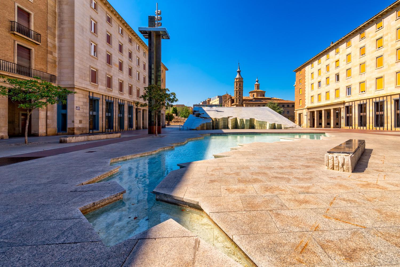 Fuente de la Hispanidad Fountain   Zaragoza, Spain by Nico Trinkhaus