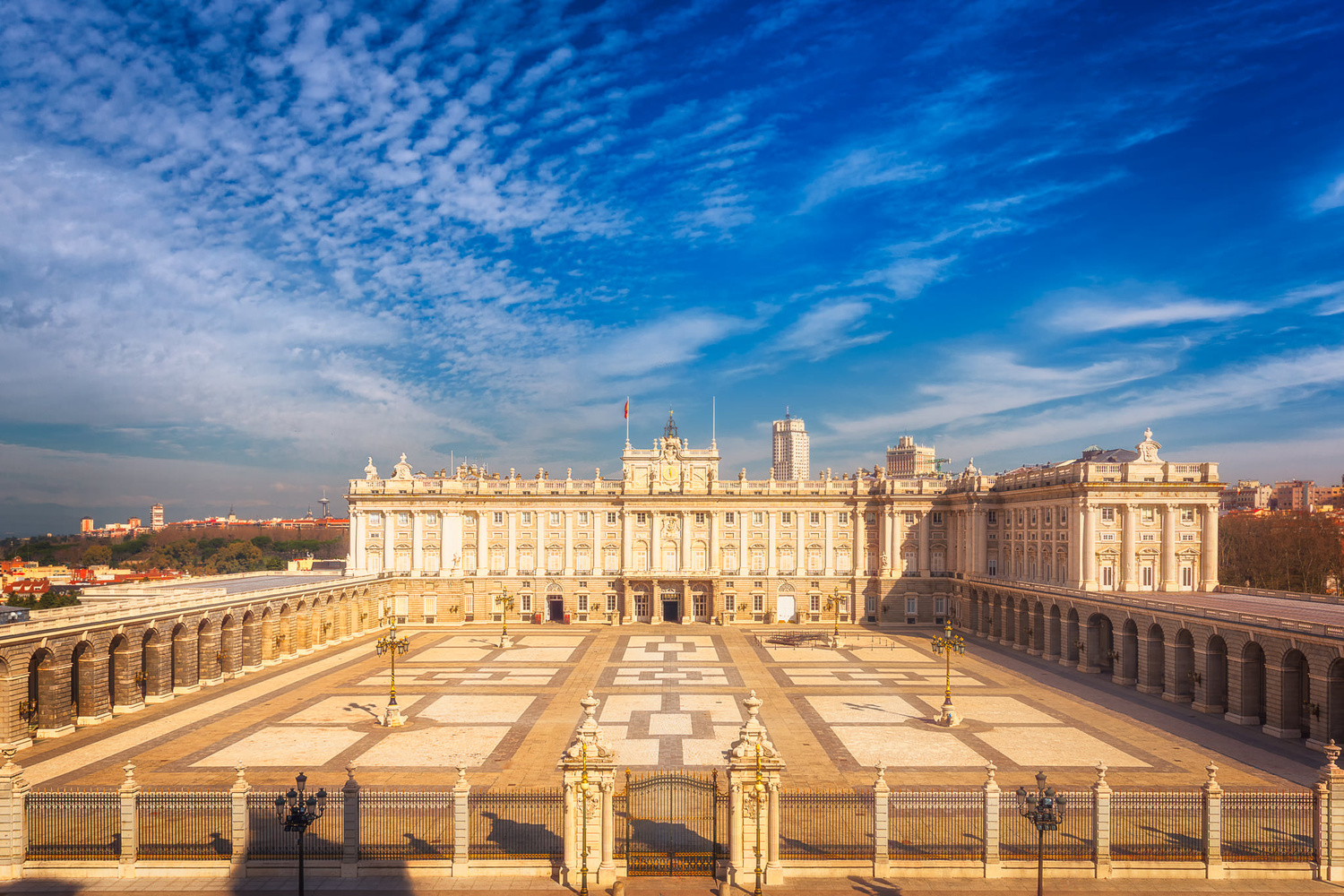 The Royal Palace of Madrid and Plaza de la Armeria by Nico Trinkhaus
