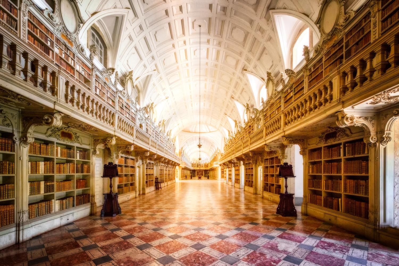 Mafra Palace - Library | Portugal by Nico Trinkhaus