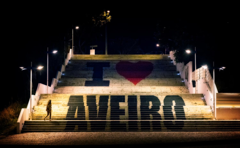 Aveiro Stairs at Night | Portugal by Nico Trinkhaus
