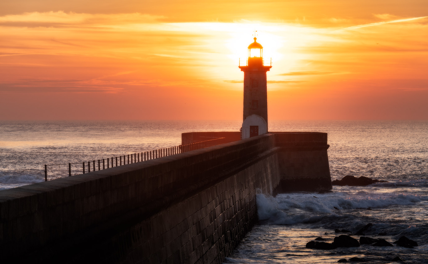 The Felgueiras Lighthouse at sunset | Porto, Portugal by Nico Trinkhaus