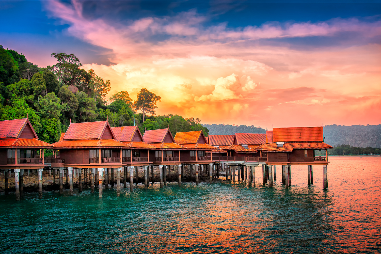 Chalets on Water | Langkawi Island, Malaysia by Nico Trinkhaus