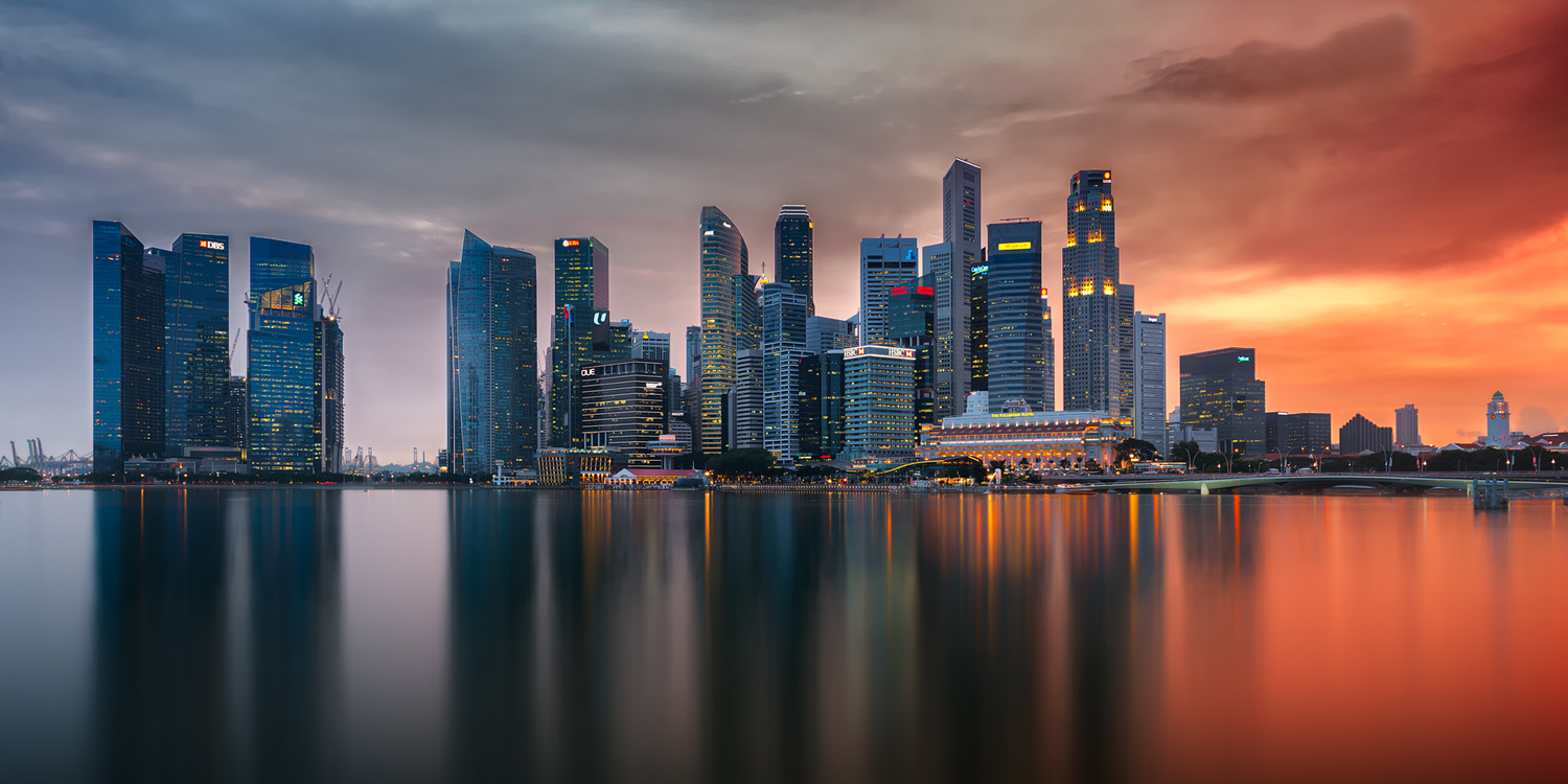 Skyline | Marina Bay, Singapore by Nico Trinkhaus