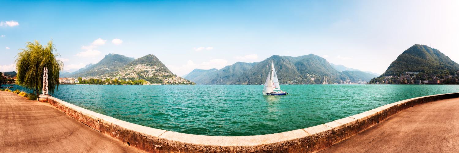 Panorama of Lugano | Switzerland by Nico Trinkhaus