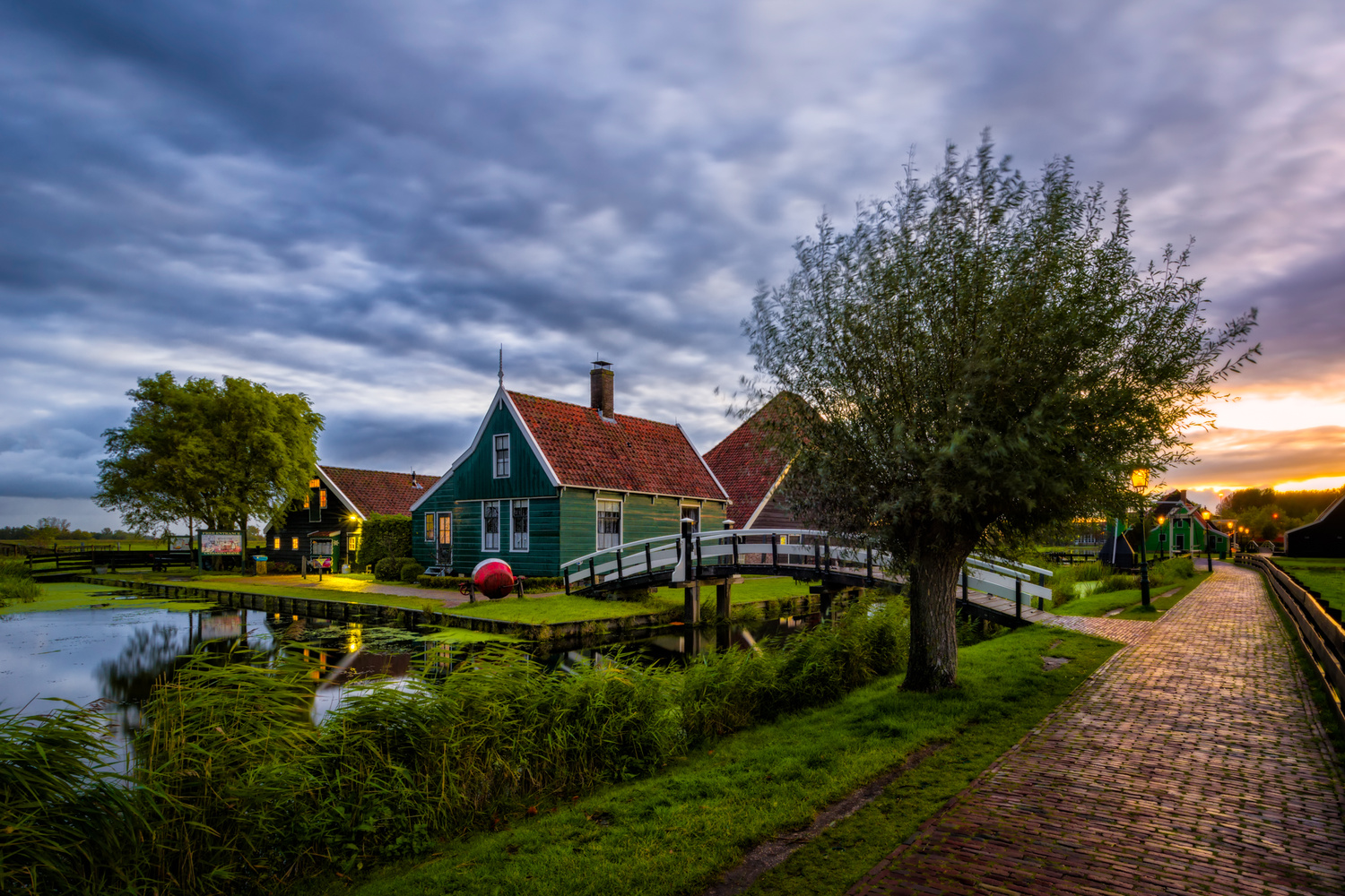 Zaanse Schans At Sunrise | Netherlands by Nico Trinkhaus
