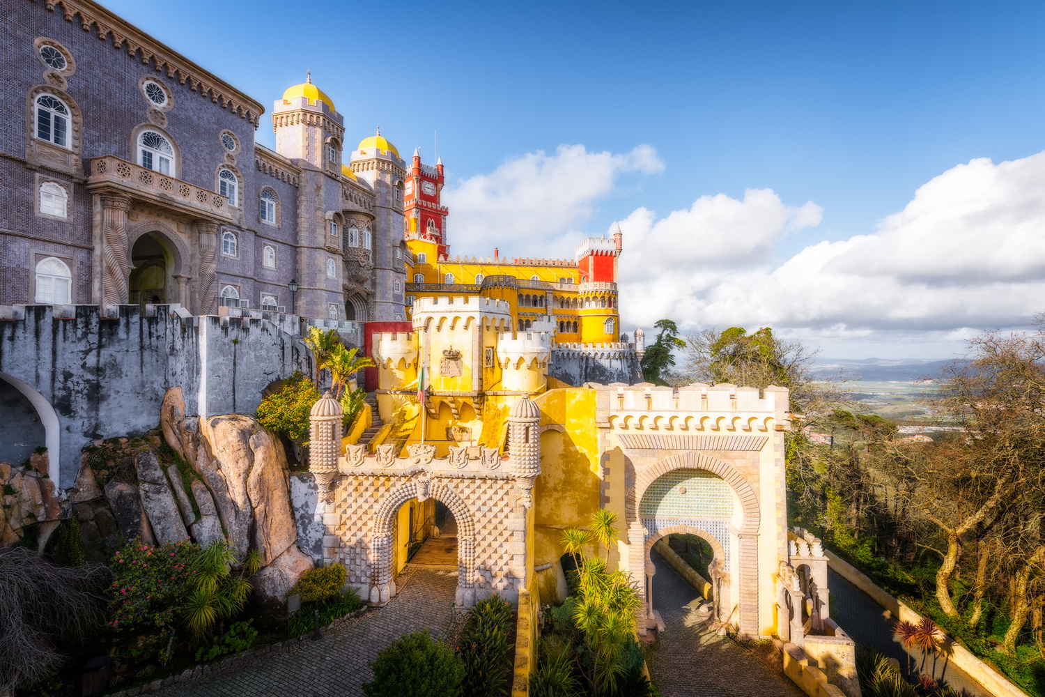 Pena Palace in Sintra mountains | Portugal by Nico Trinkhaus