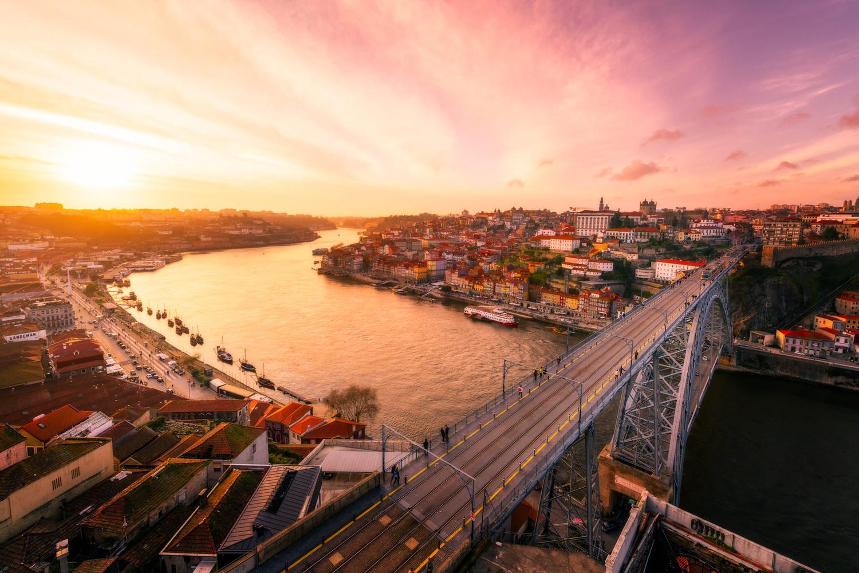 Sunset with D. Luis Bridge | Porto, Portugal by Nico Trinkhaus