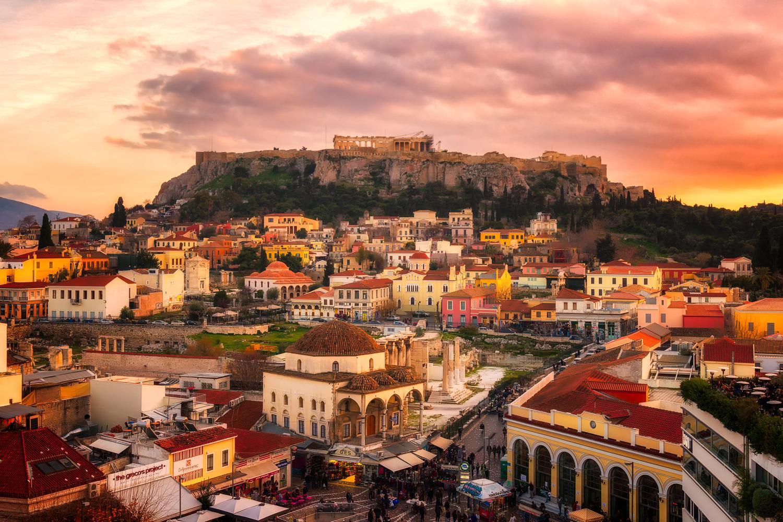 Evening at Monastiraki | Athens, Greece by Nico Trinkhaus