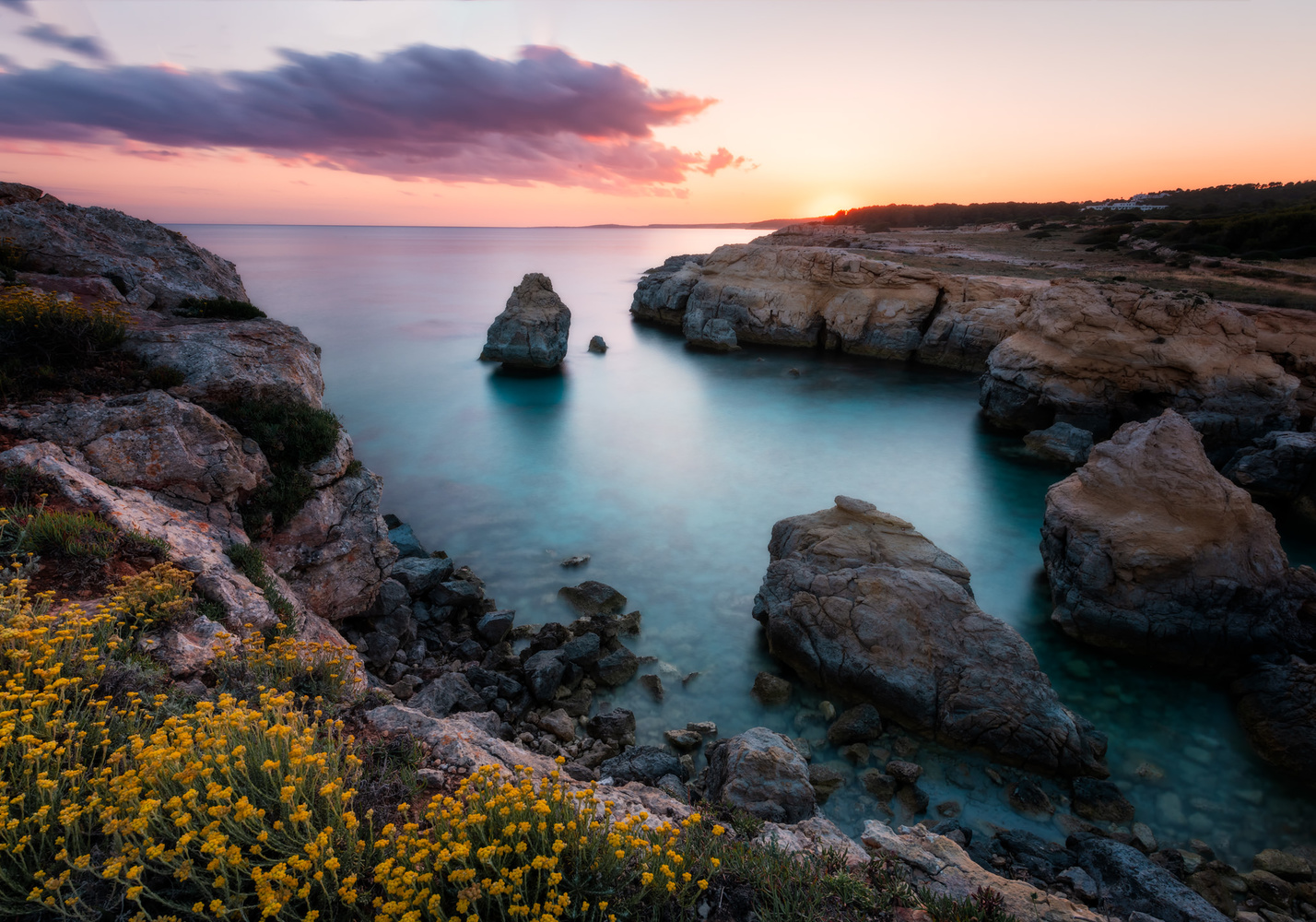 Sunset on Atalis Beach | Menorca, Spain by Nico Trinkhaus