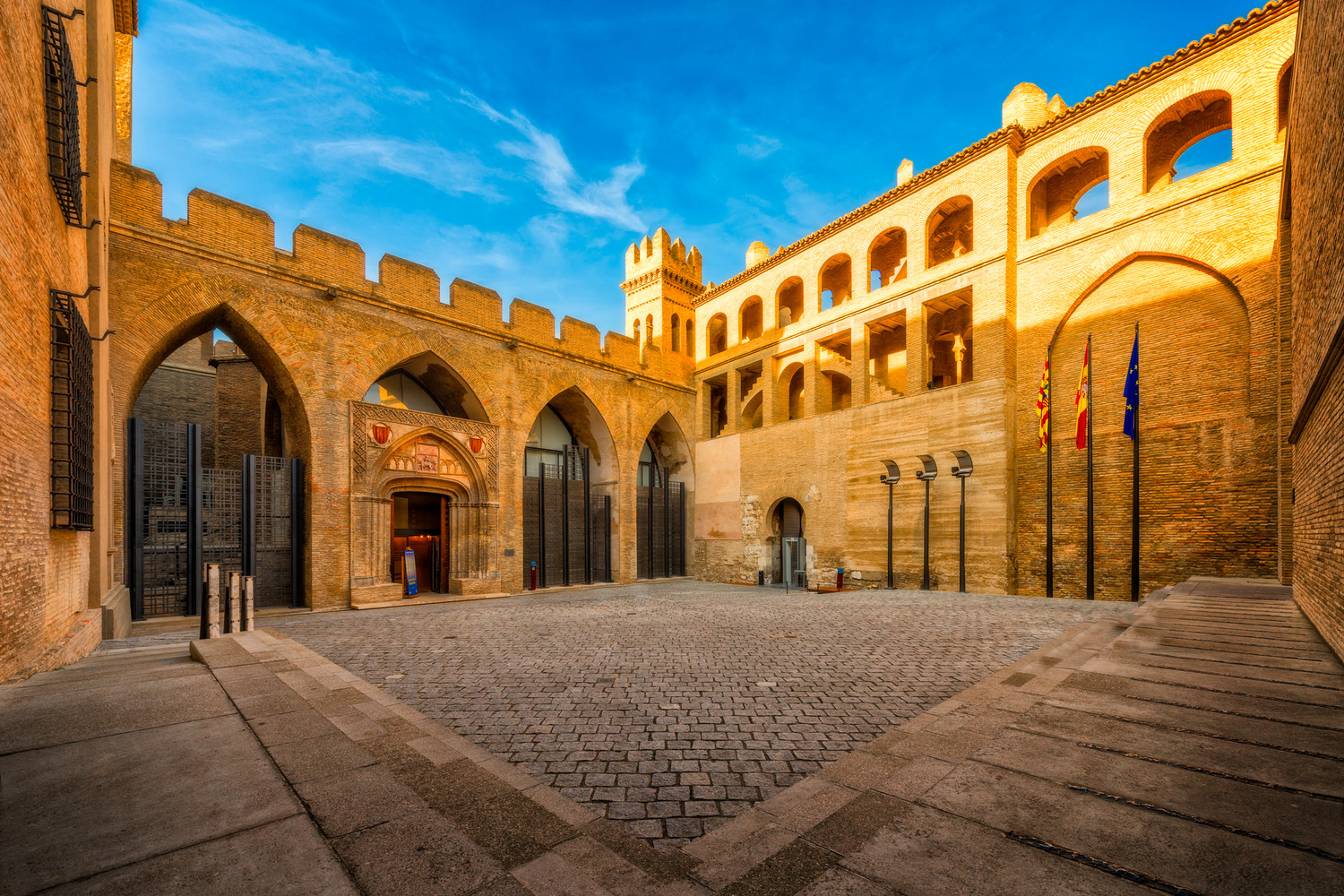 Patio de San Martin and Aljaferia Palace | Zaragoza, Spain by Nico Trinkhaus