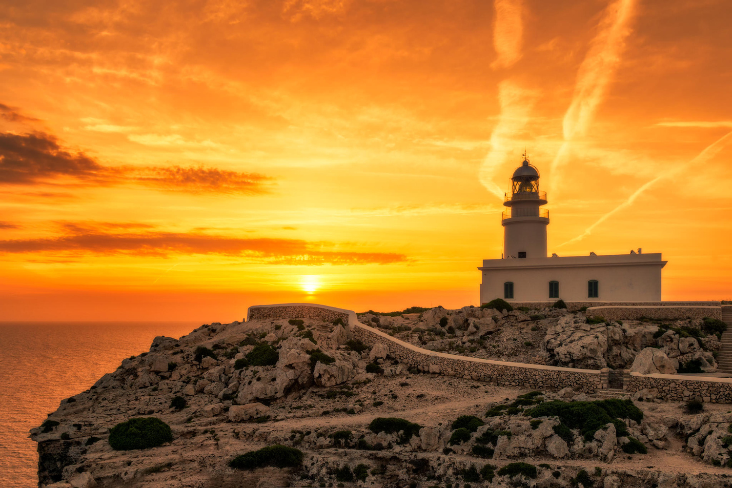 Lighthouse at Cabo de Cavalleria | Menorca, Spain by Nico Trinkhaus