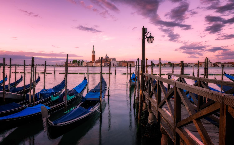 Gondolas | Venice, Italy by Nico Trinkhaus
