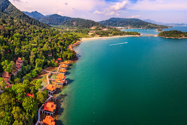Langkawi Beach from above   Langkawi, Malaysia by Nico Trinkhaus