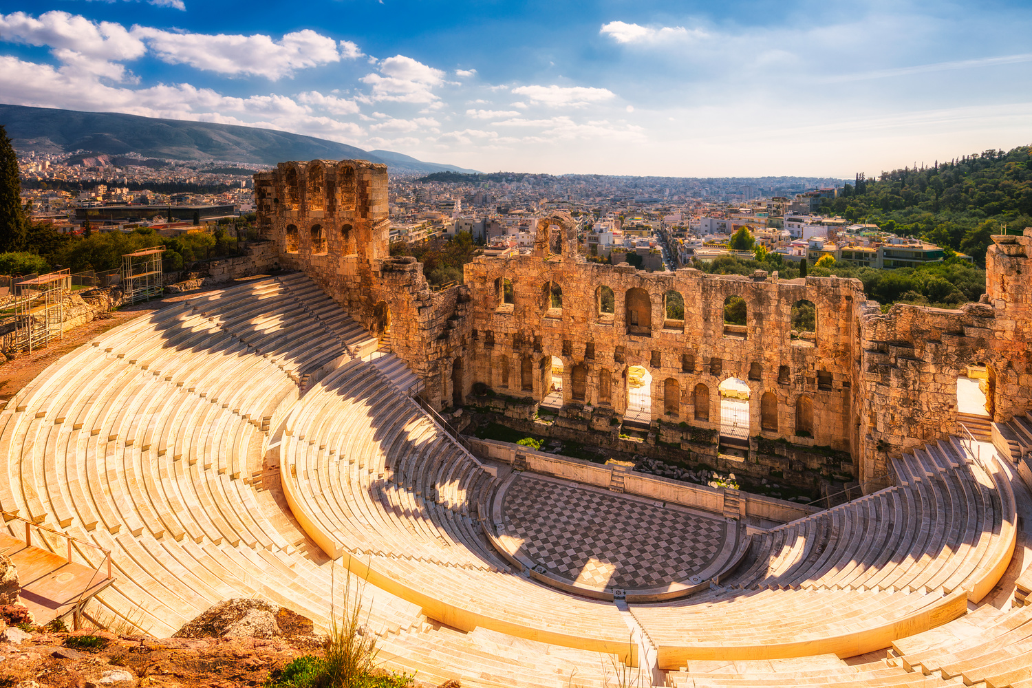 Ancient theatre - Odeon Of Herodes Atticus | Athens, Greece by Nico Trinkhaus