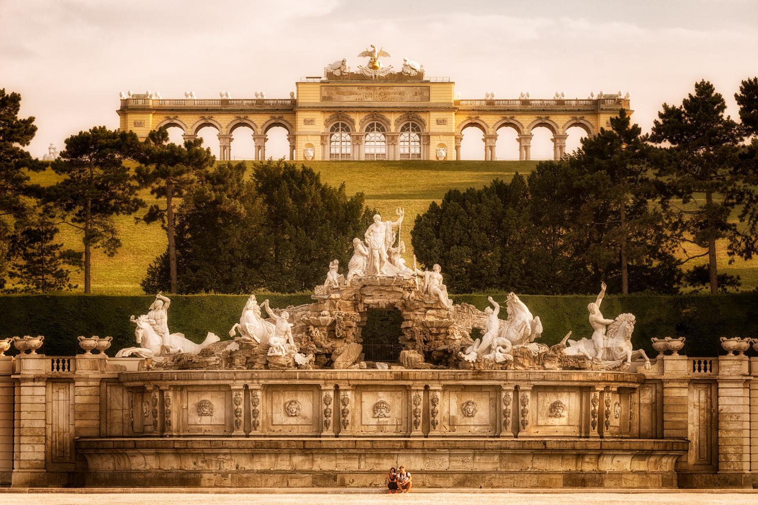 The Gloriette and The Neptune Fountain   Vienna, Austria by Nico Trinkhaus