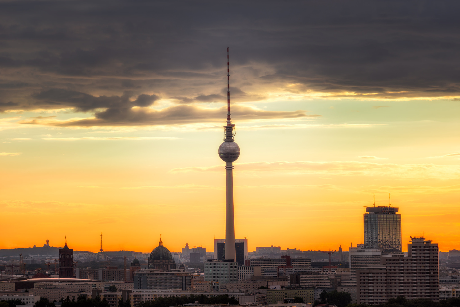 The TV Tower of Berlin from Storkower Street | Germany by Nico Trinkhaus