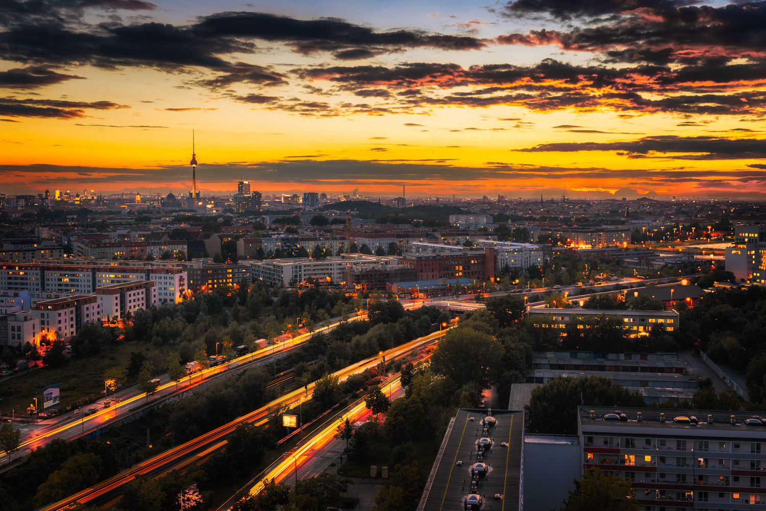 Autumn photo of Berlin and the Time Blend Effect | Germany by Nico Trinkhaus