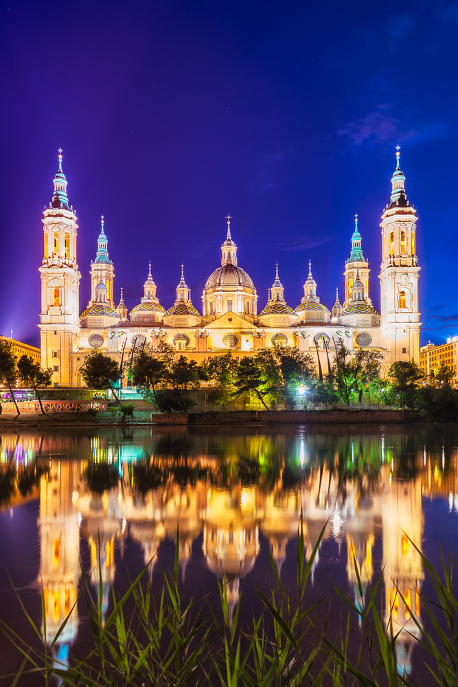 El Pilar Cathedral by The Ebro River | Zaragoza, Spain by Nico Trinkhaus